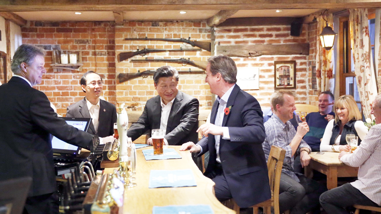 Greene King IPA in China, David Cameron, Xi Jinping